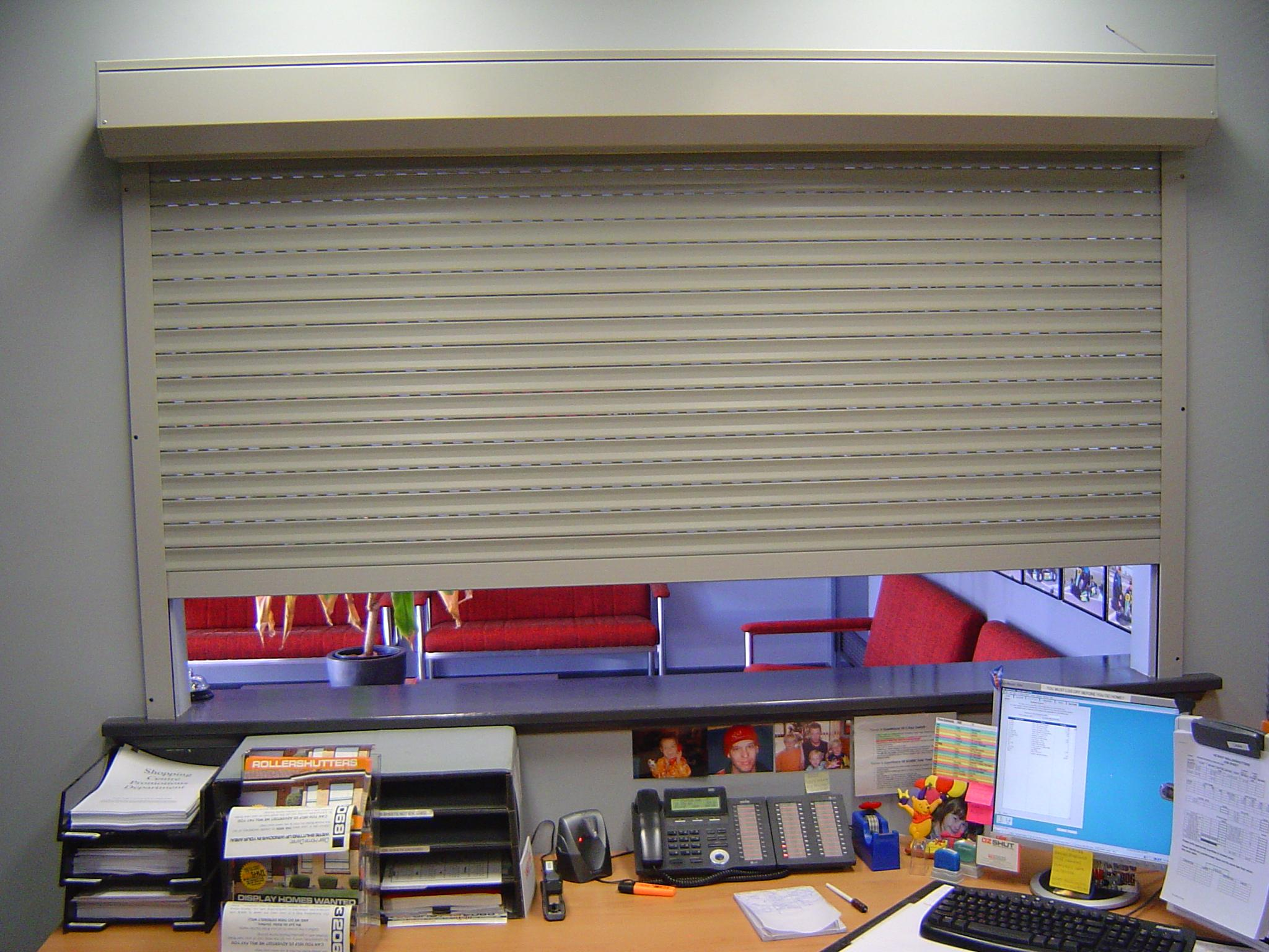 Commercial Roller Shutters - reception area